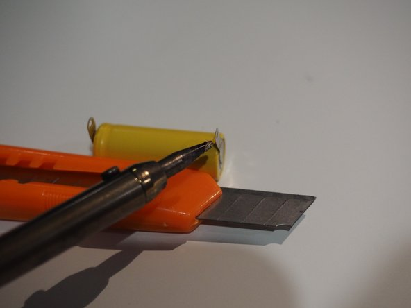 Tin the battery tabs