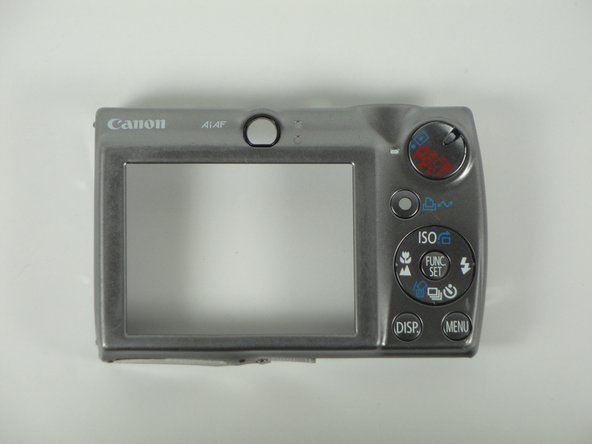 Disassembling Canon PowerShot SD800 IS Back Cover