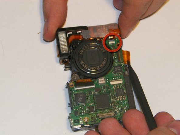 Canon PowerShot SD 600 Flash Assembly Replacement