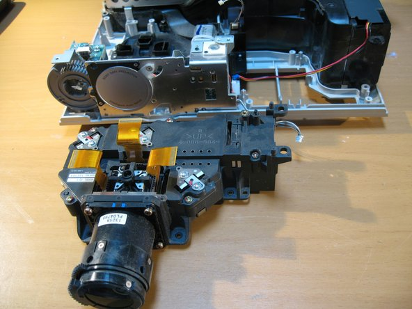 Projection assembly removed
