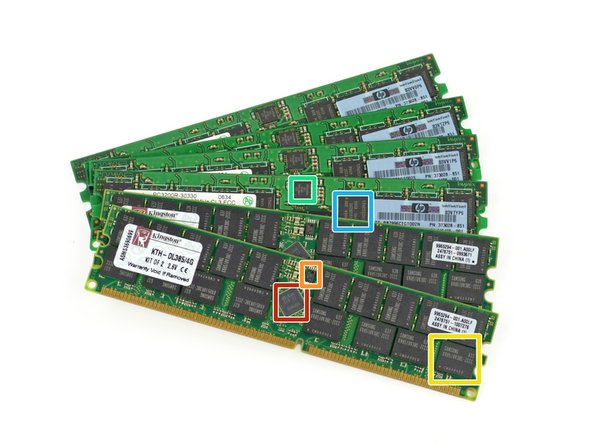Memory IC Identification (only 1 is labeled of each):