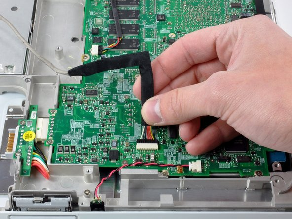 Disconnect the DC-In cable from the logic board.