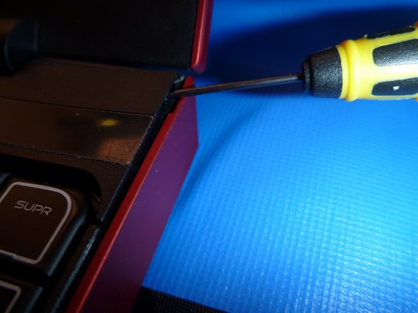 Use a small flat screwdriver to carefully pry the cover from the chassis.