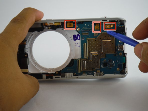 Now that you've removed the battery, screen, and lens assembly, you are ready to continue inremoving the motherboard.