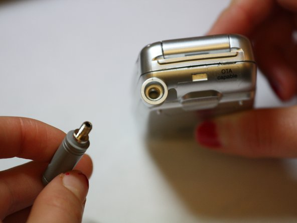 Make sure that the threads line up when screwing the new antenna back on, otherwise a strong connection won't be made.
