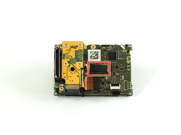 Using a plastic opening tool, separate the camera sensor's connector from the motherboard.