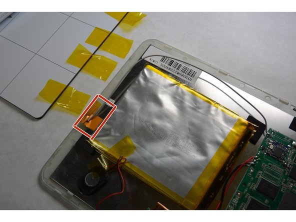 Remove the Wi-Fi antenna element from the front plate.