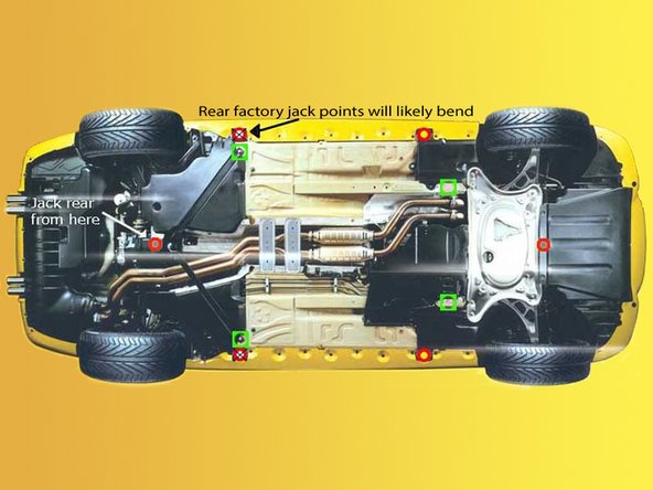 Raise and support the car using ramps or jack stands. Never work under a car supported only by a jack.
