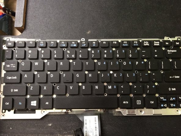 A look of the key board
