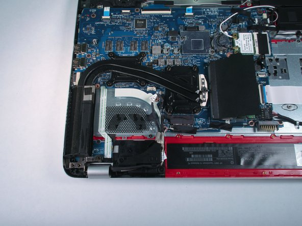 Disassembling HP Envy TouchSmart 15 Heat Sink