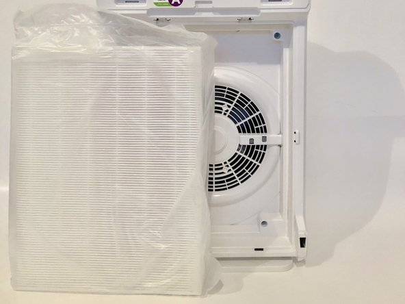 Replace the True HEPA Filter by inserting it into the empty space in the device.