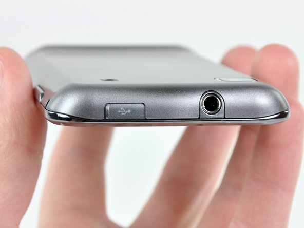 Gone are the days of mini-USB. The Galaxy S 4G boasts a micro-USB connector and a 3.5 mm headphone jack alongside the top of the phone.