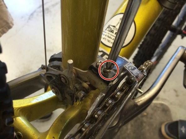 Shift the front derailleur to the 1st position (smallest cog and closest to the body of the bike)