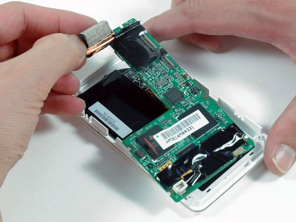 Lift the logic board out of the iPod.