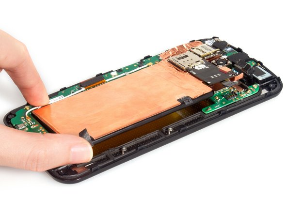 At that time, remove the battery with SIM & SD card reader assembly together.