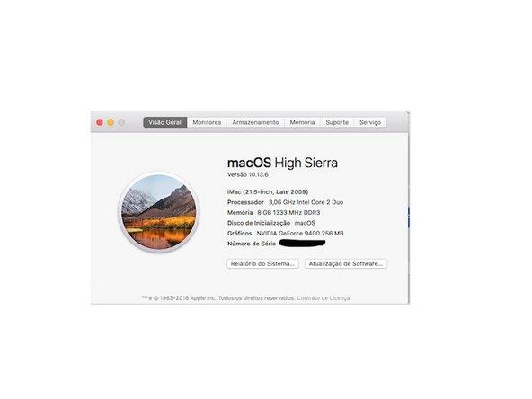 """iMac Intel 21.5"""" EMC 2308 RAM 1333 MHz"""