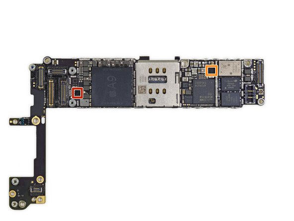 Two more ICs on the front of the logic board: