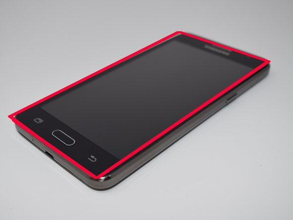 Use a heat gun or a heating device to lightly heat the edges of the screen on the phone