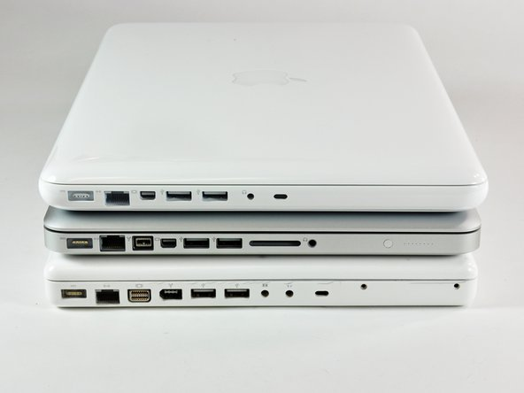 Top: New MacBook, Middle: MacBook Pro, Bottom: Old MacBook