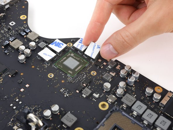 Apply thermal pads to the four VRAM modules around the GPU.