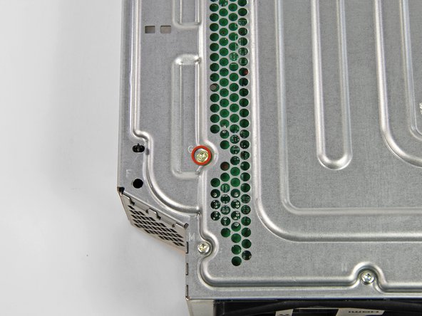 Turn the console over so that the metal case is facing up.