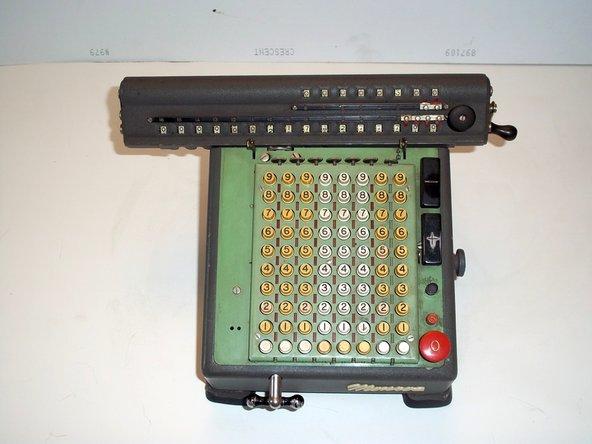 Disassembling a Monroe LA-160 calculator