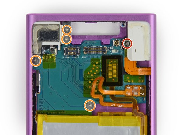 Flip the battery back into its recess to expose the headphone jack.