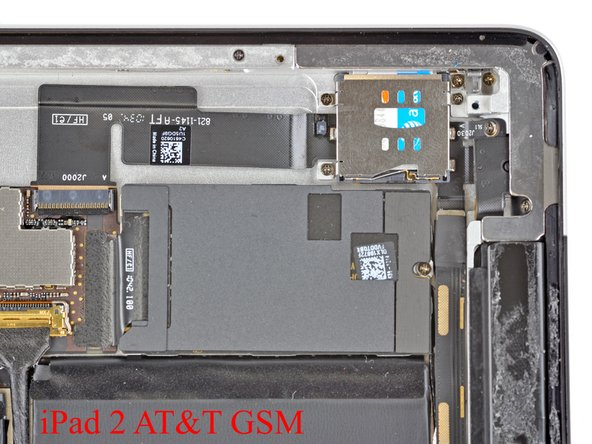 When comparing the GSM and CDMA versions of the iPad 2, the most obvious difference is the microSIM slot.