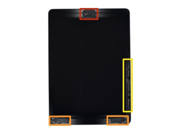 While the iPad looks uniform from the outside, there are delicate components, such as flex cables, under the front glass. To avoid damage, only heat and pry in the areas described in each step.