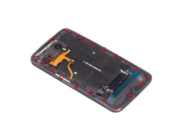 Use T3 Torx screwdriver to twist off all 21 screws.