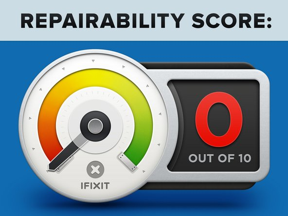 AirPods Pro earn a 0 out of 10 on our repairability scale (10 is the easiest to repair):