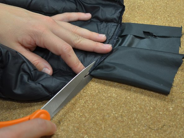 Trim off the excess fabric.