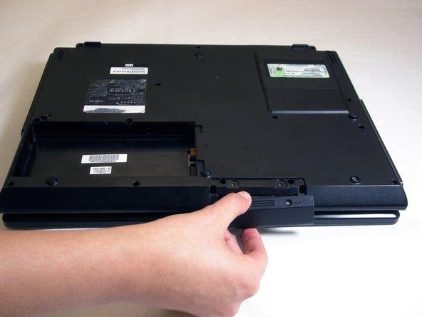 Remove hard drive access cover.