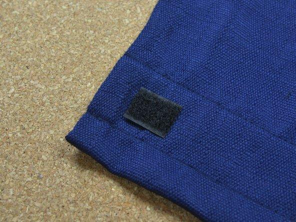 Klettband in Kleidung einnähen