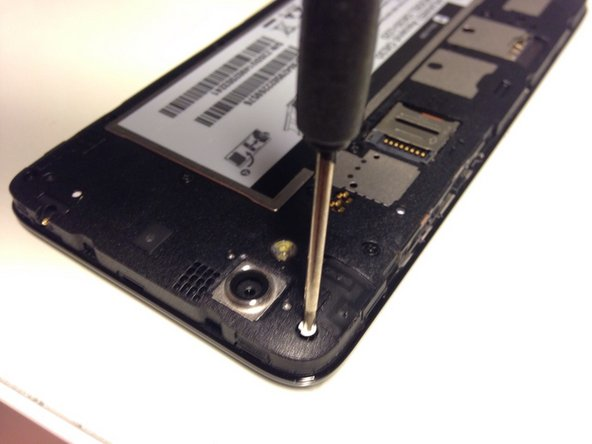 Using your Phillips screwdriver, unscrew all screws on the back of the phone.