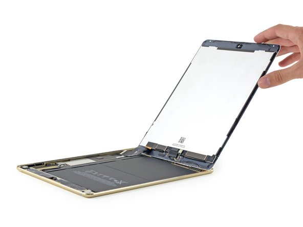 Upon successfully opening the iPad Air 2, we immediately note that all the display cables now reside near the lower edge.
