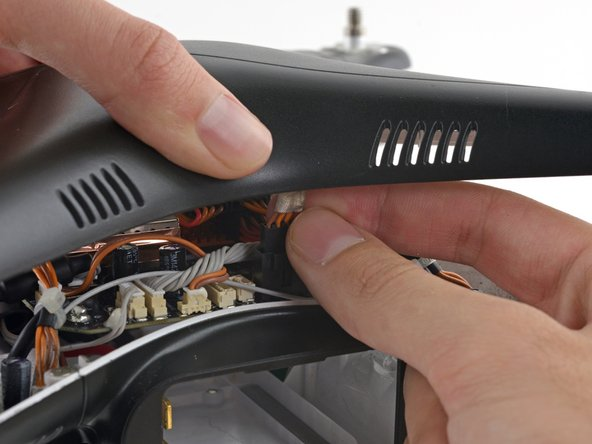 The GPS cable molex connector is located on the backside of the mainboard, near the battery opening.