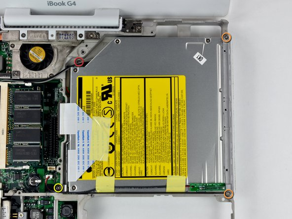 "iBook G4 12"" 1.33 GHz Optical Drive Replacement"