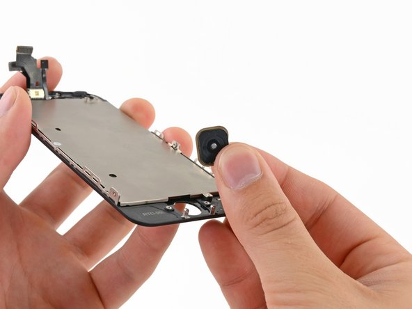 Remove the home button from the display assembly.