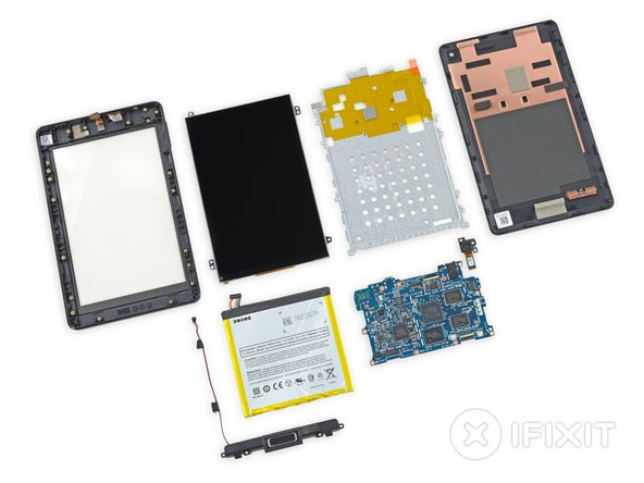 Fire HD 6 Repairability Score: 8 out of 10 (10 is easiest to repair).