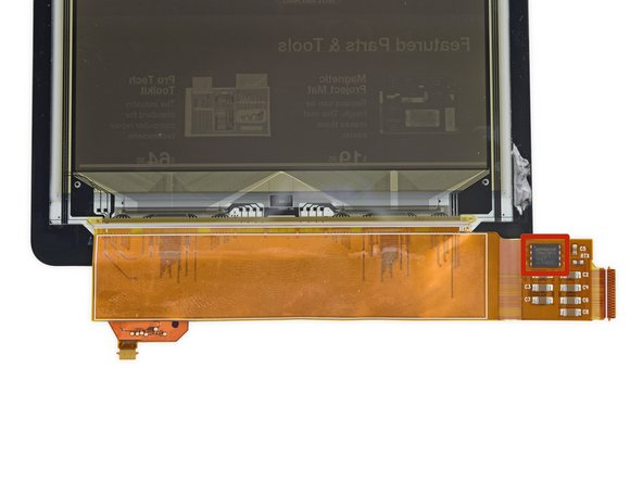 We uncovered two hidden ICs along the bottom of the display assembly: