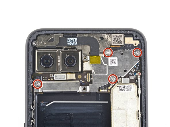 Use a T3 Torx driver to remove the four 4mm screws securing the camera connector cover.