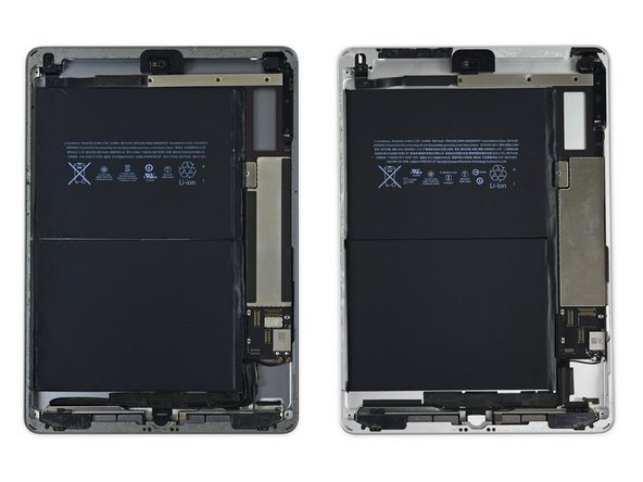 So remember how we said this was similar to the first Air? We were serious—take a look at the Air 1 and iPad 5 respectively. Not much has changed.