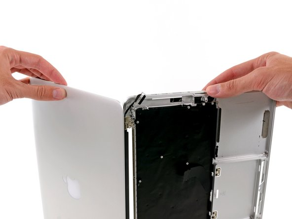 The Retina display comes out after removing a few Torx screws.