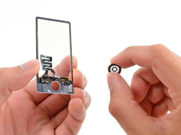 Remove the home button from the front glass/digitizer.