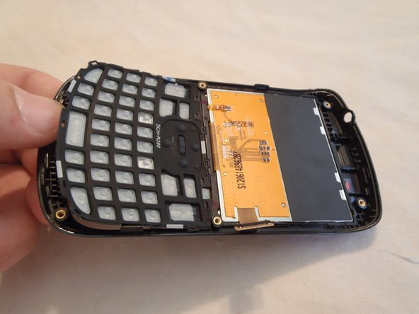 Here is the other part we removed.  The keypad is just set in by gravity, and is easily removed from the frame.