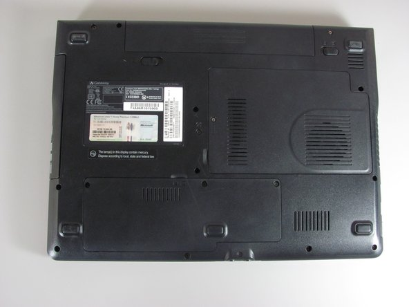 Before you begin, it's recommended that you back up all your computer's information on the original hard drive. Also, verify the laptop is off and all cables are disconnected.